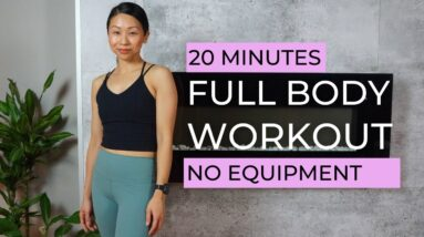 20 MIN FULL BODY WORKOUT at HOME for beginners (no equipment)