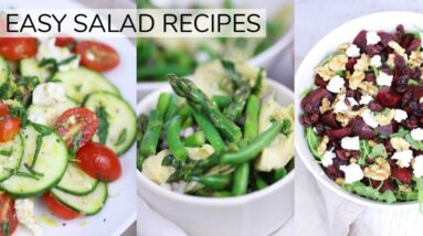 3 *NEW* EASY HEALTHY SALAD RECIPES | clean eating recipes