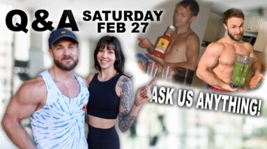 ASK US ANYTHING   Q&A HANGOUT (Vegan nutrition, fitness, calisthenics & more!)