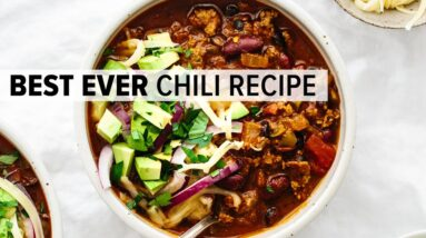 BEST EVER CHILI RECIPE | an easy beef chili bursting with flavor