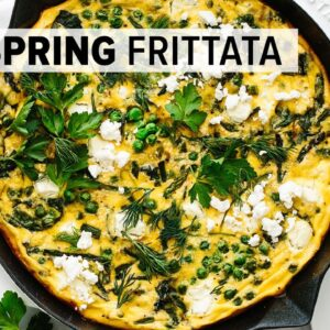 BEST FRITTATA RECIPE | with vibrant spring vegetables