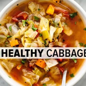 CABBAGE SOUP | super easy, vegetarian soup for a healthy diet