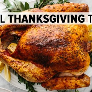 EASY THANKSGIVING TURKEY | how to cook and carve the BEST turkey recipe