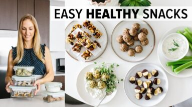 HEALTHY SNACKS | to meal prep for the week (super easy!)