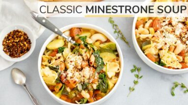 MINESTRONE SOUP RECIPE | easy vegetable soup