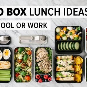BENTO BOX LUNCH IDEAS | for work or back to school + healthy meal prep recipes