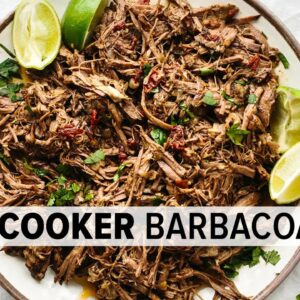 SLOW COOKER BARBACOA | perfect for tacos, burritos, bowls, and salads!