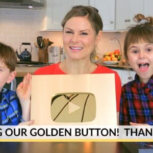 UNBOXING GOLDEN YOUTUBE BUTTON + THANK YOU!!
