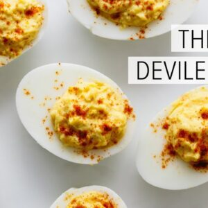 DEVILED EGGS | how to make the best deviled eggs recipe (paleo, keto, whole30)