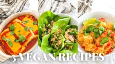 3 Healthy Vegan Recipes All Made With Tofu!