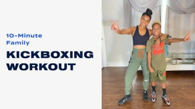 10-Minute Family Kickboxing Workout With Mini Pop Kids
